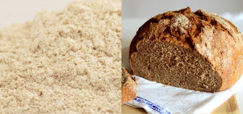 The Differences Between Whole Wheat and White Flours. Bread and Other Whole Wheat Products Made in Moldova